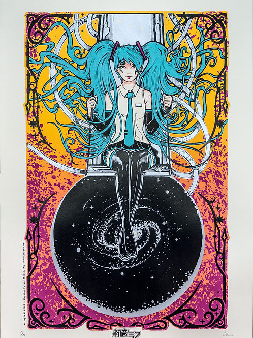 Hatsune Miku art by MALLEUS - Yellow Variant Edition