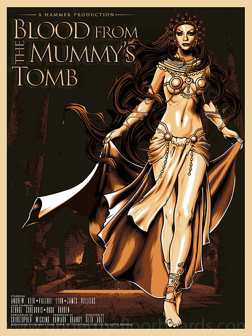 Blood from the Mummy's Tomb - Art by Flick