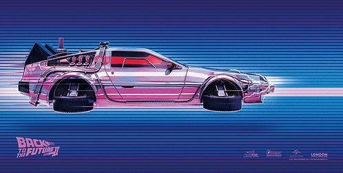 Back to the Future Delorean 2 - Art by Chris Skinner
