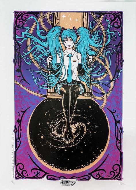 Hatsune Miku art by MALLEUS - Purple Regular Edition