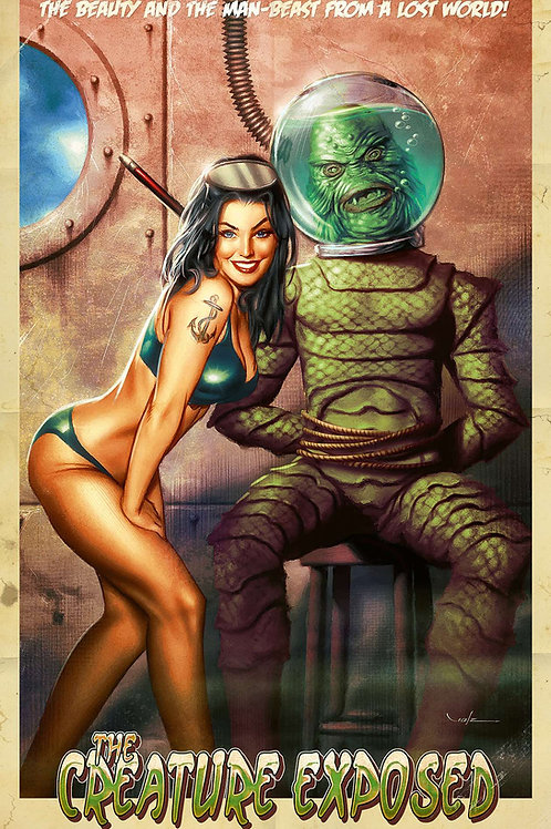 Creature Exposed - Art by Carlos Valenzuela