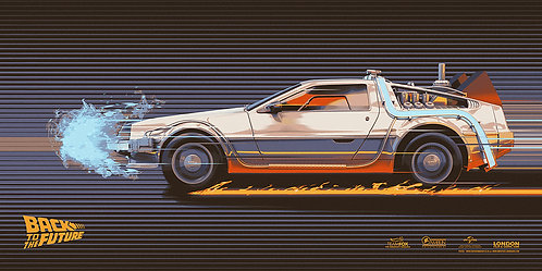 Back to the Future Delorean - Art by Chris Skinner