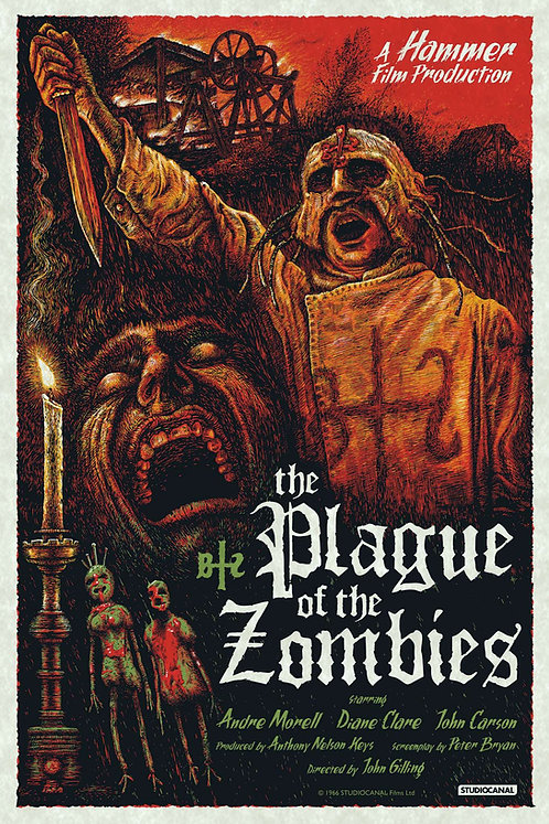 The Plague of the Zombies - Art by Richard Wells