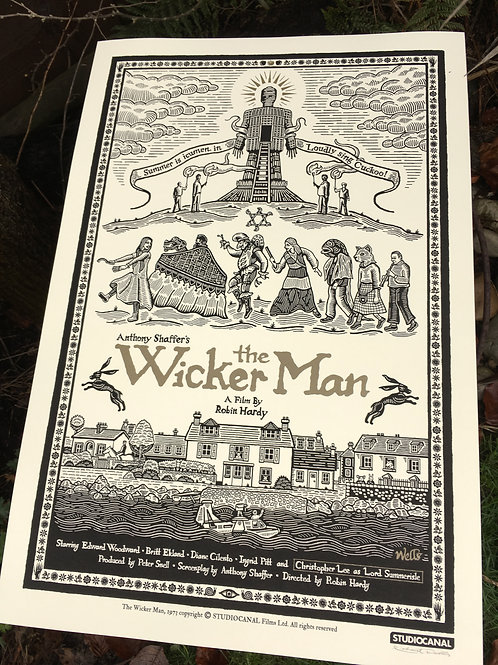The Wicker Man - Art by Richard Wells