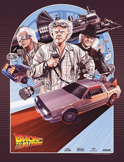 Back to the Future - Art by Chris Skinner