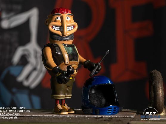 """屬於手工車文化的設計師玩具 - Pitworks Design """"Pitman"""""""