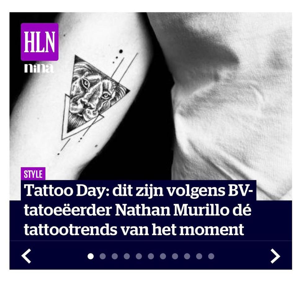 Tattoo Day: dit zijn volgens BV-tatoeëerder Nathan Murillo dé tattootrends van het moment