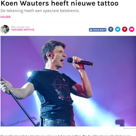 Koen Wauters heeft nieuwe tattoo