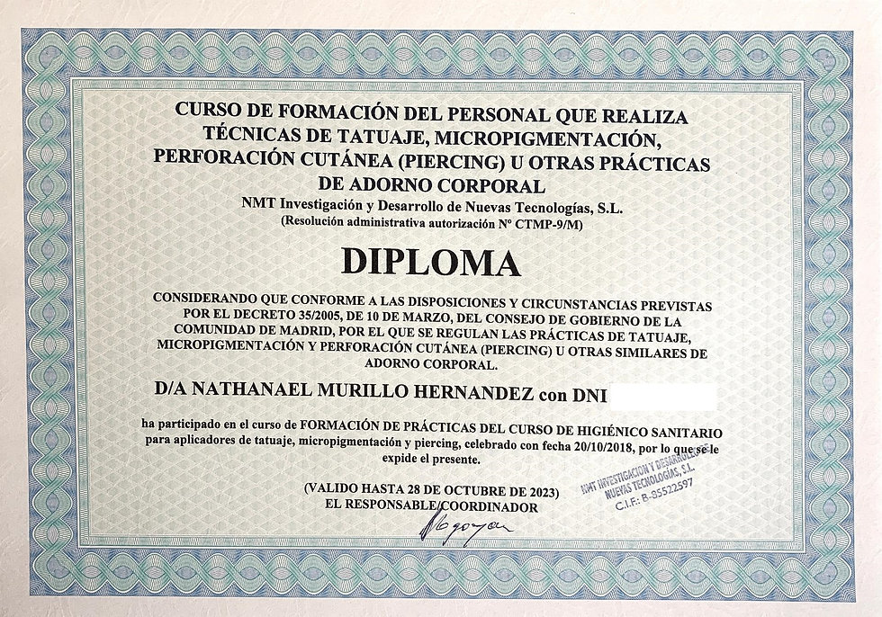 European certificate - Decree 35-2005 5