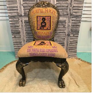 Purple Haze Cannabis Chair #1