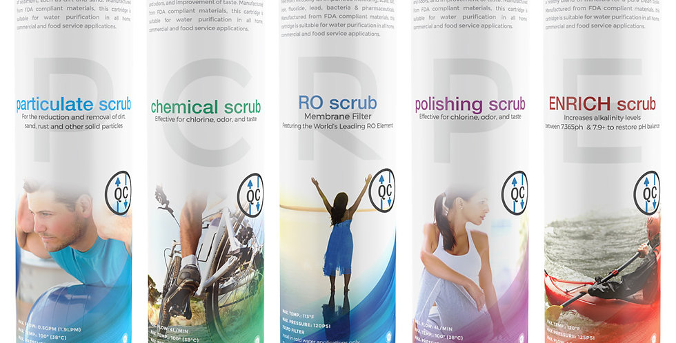 Quick-Connect RO+3+ENRICH Filter Pods Package