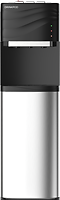 Drinkpod 100 Series featuring stainless steel cabinet and accents, three dedicated temperature controls, sediment, pre-carbon, UF ultra membrane, and post carbon filtration.