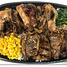 Beef Kalbi & BBQ Chicken Bento