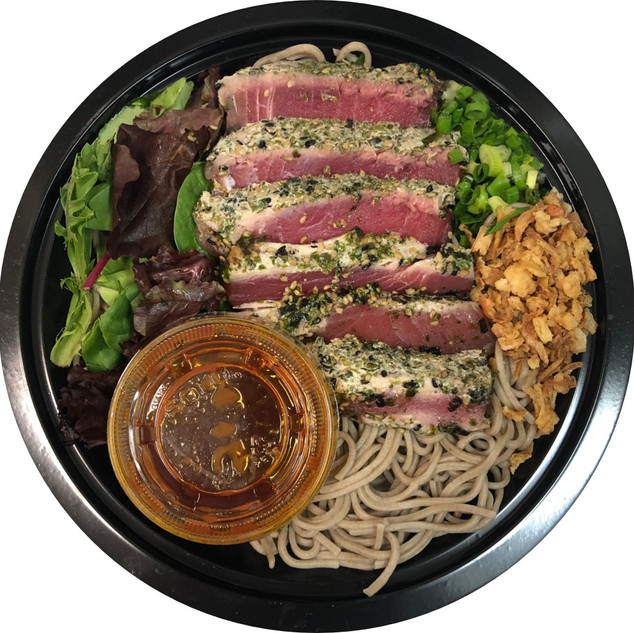 Soba Salad With Seared Furikake Ahi
