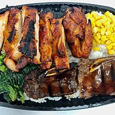 Spicy Chicken & Kalbi Bento