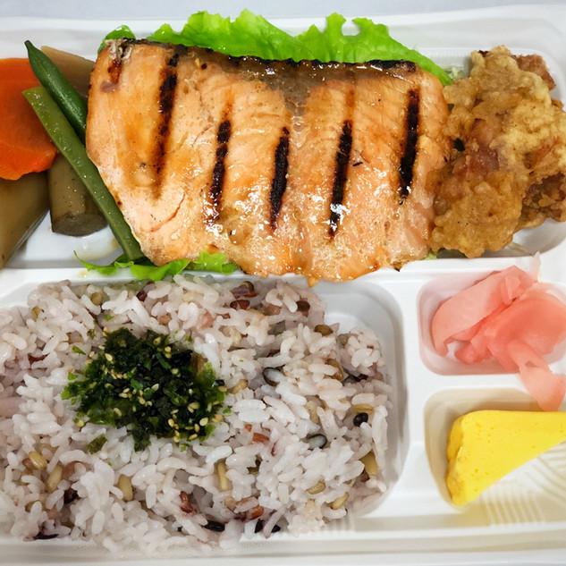 Broiled Salmon Bento