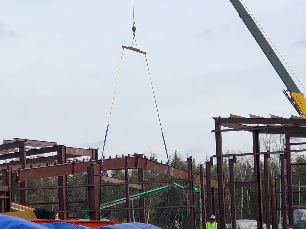 Rafter being erected in Area C (Jail)