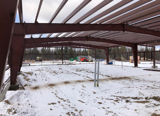 Steel Structure Almost Complete!