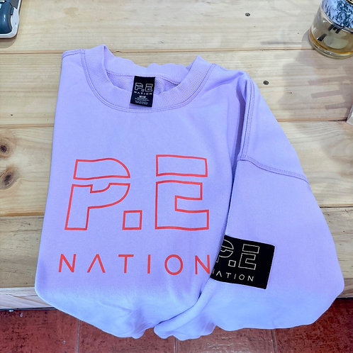 PE Nation Sweater Core Lilac Red