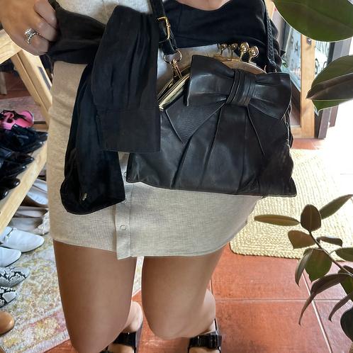 Alannah Hill Leather Bow Bag Cross body