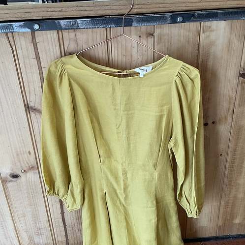 Seed Heritage Linen Pant Suit Soft Mustard