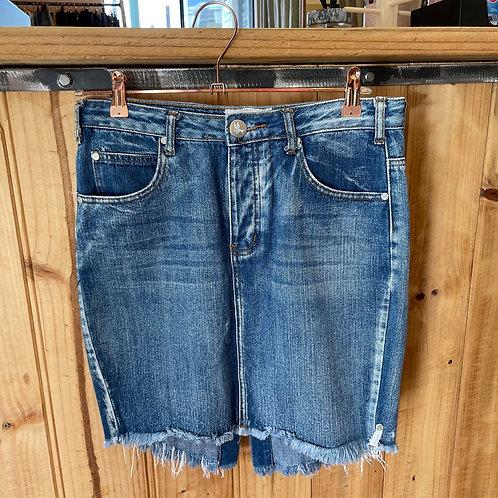 One Teaspoon Denim Skirt Distressed