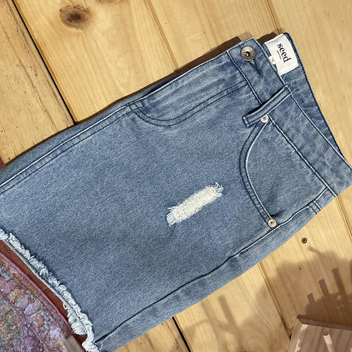 Seed Denim Mini Skirt Size 10