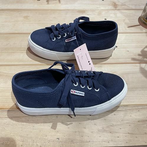 Superga Canvas Navy Sneakers Sz 38