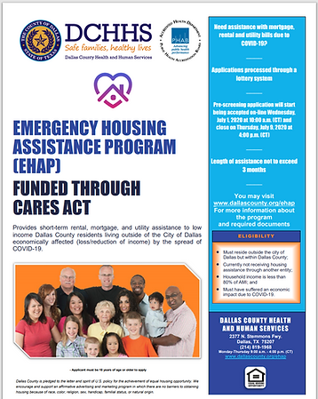 DALLAS COUNTY EMERGENCY HOUSING PROGRAM