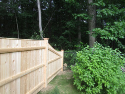 Cedar Board with Cap Tapered Panel