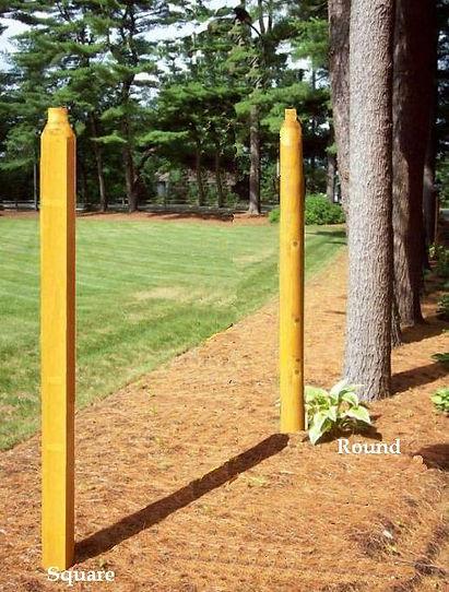 Cedar lamp posts, pre drilled.