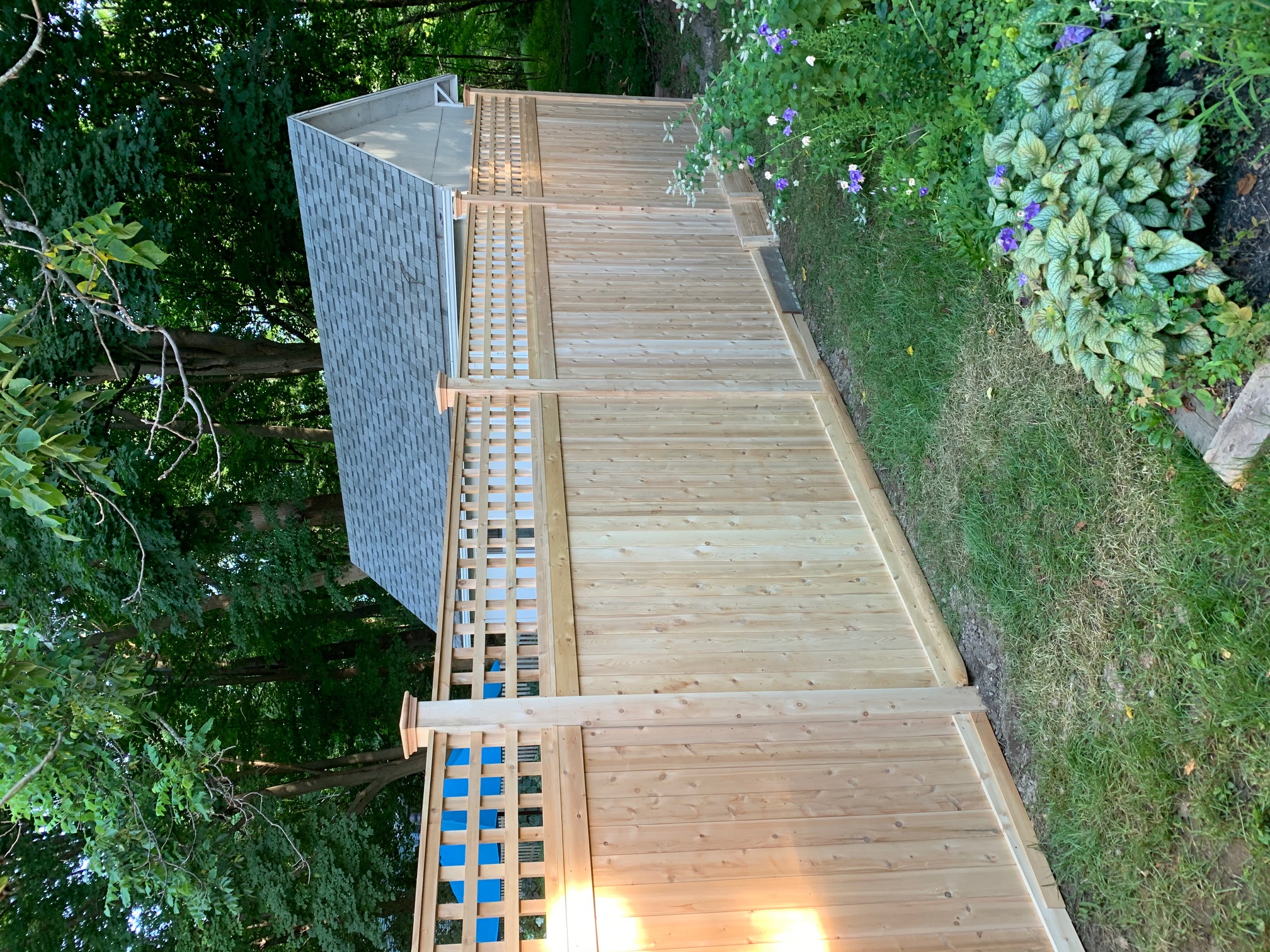 Cedar T&G with Grid Top