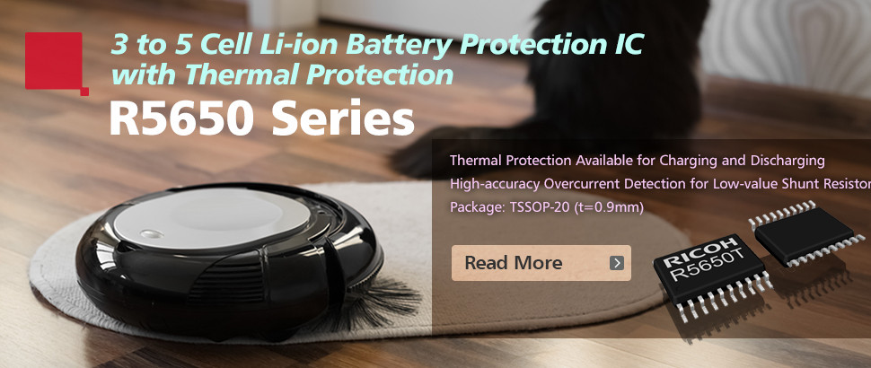 3-Cell to 5-Cell Li-ion Battery Protection IC with Thermal Protection