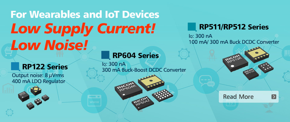 Ricoh Electronic Devices Co., Ltd. launches ultra-low quiescent current DCDC converters, and low noi