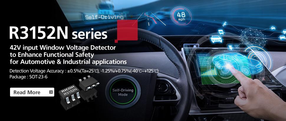 R3152 Series 42V Input Window Voltage Detector