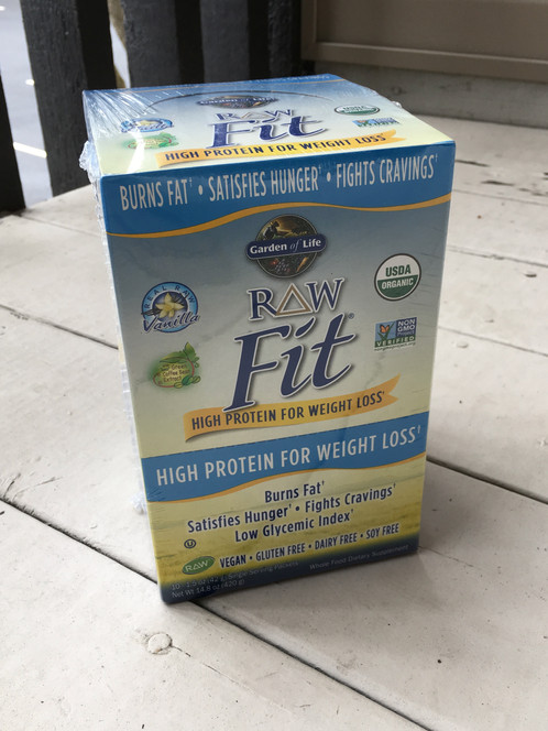 raw fit protein is amazing with 27 grams of plantbased protein and ingredients like ashwaghanda and green coffee bean extract