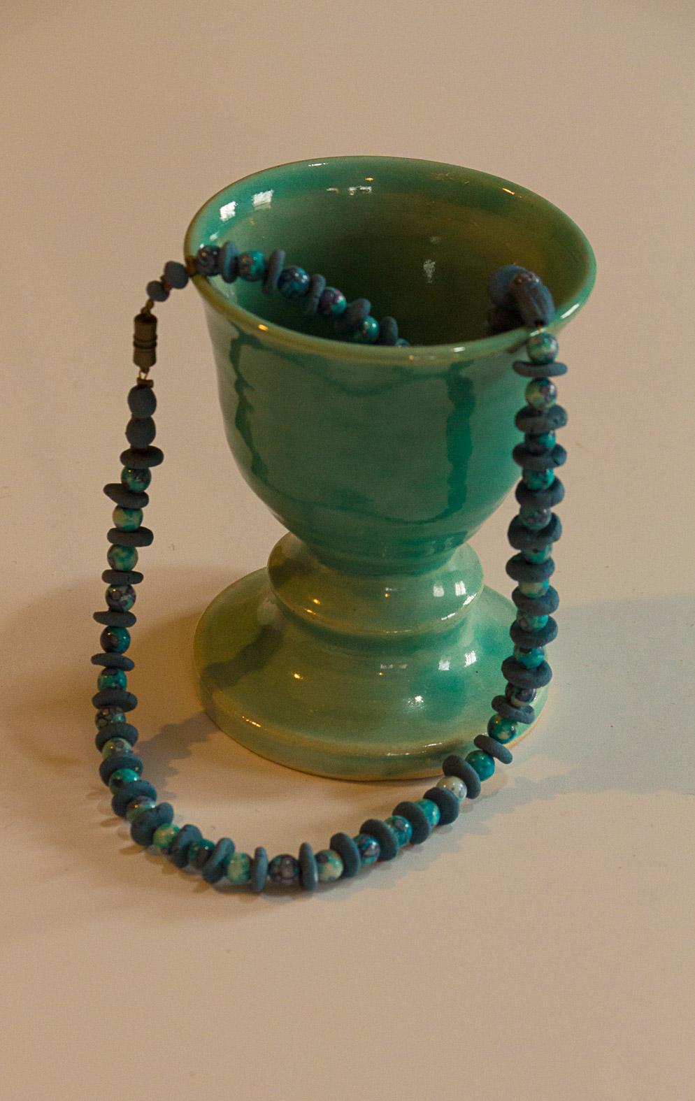 Jade green goblet
