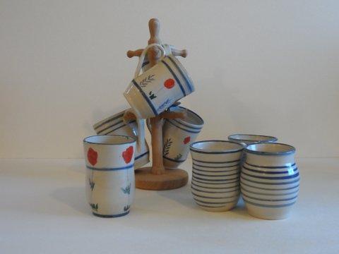 mugs, poppy series