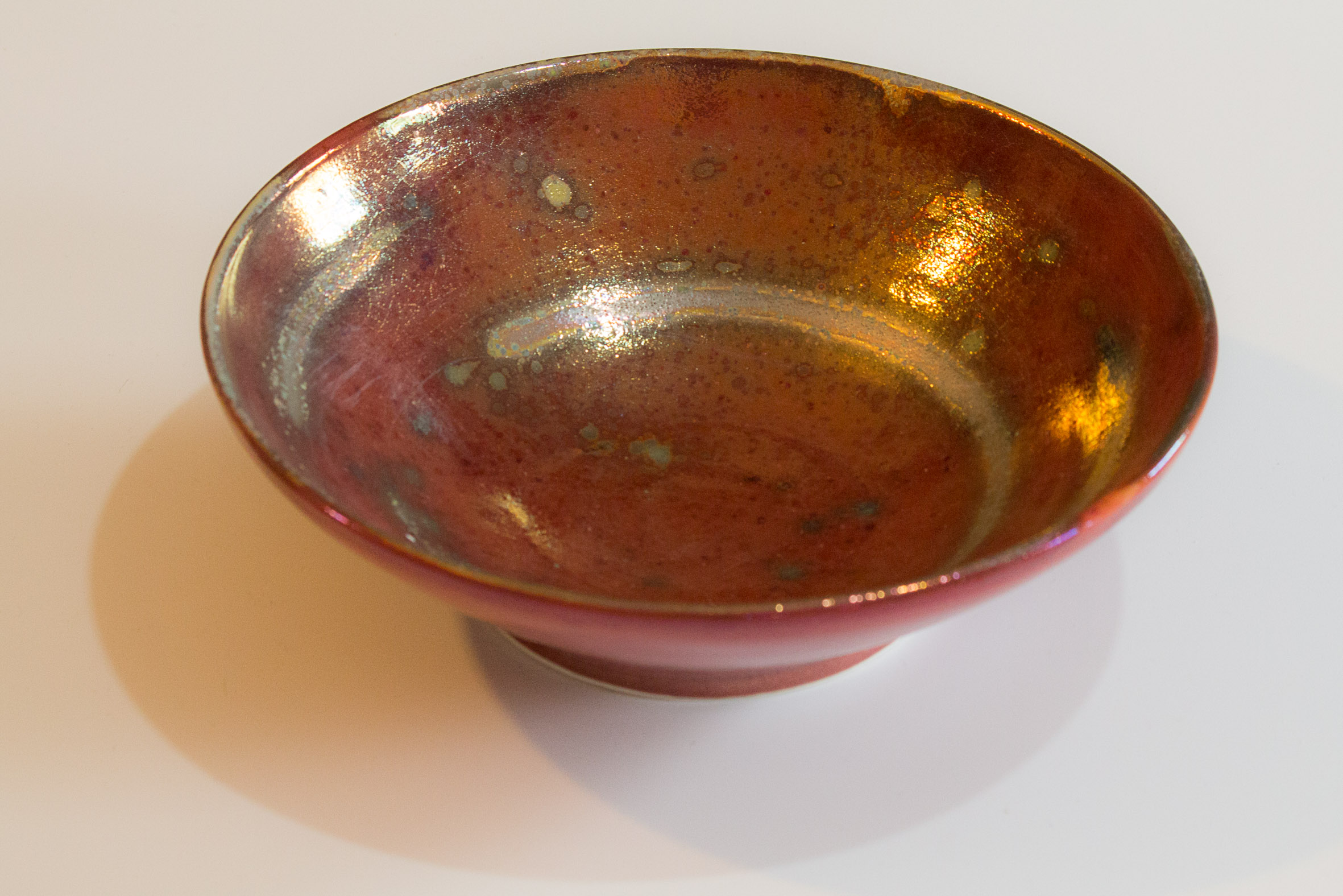 Red and gold bowl