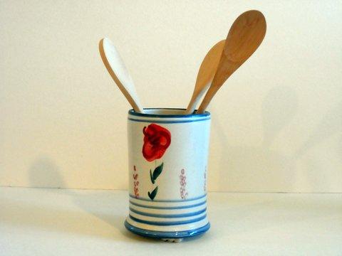 Cutlery jar, poppy series
