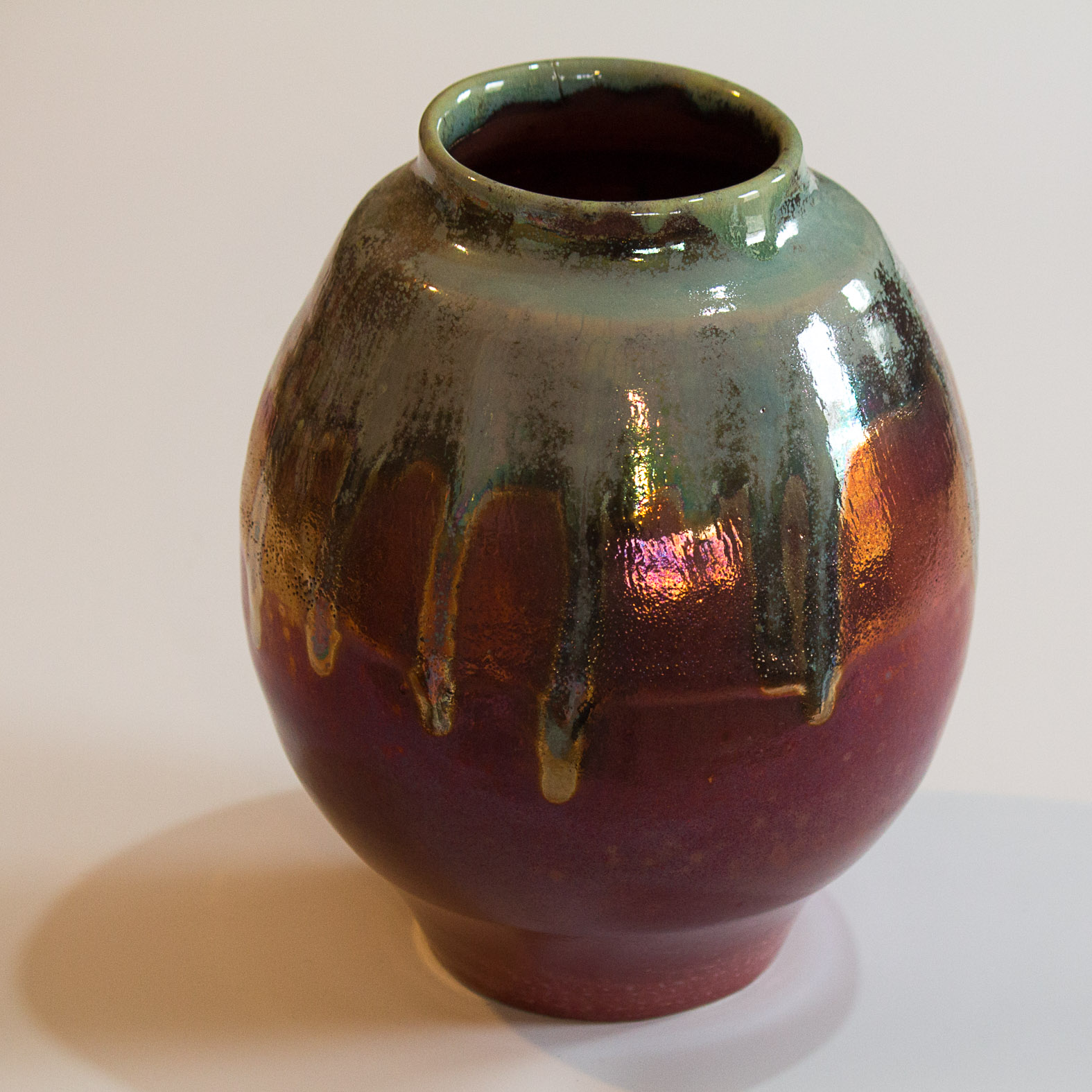 Large copper and gold vessel