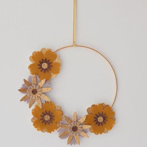 Copper Gold Floral