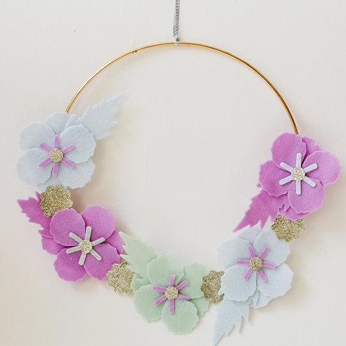 Purple/Blue Floral