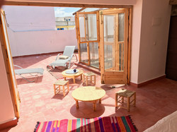 terrasse vue de la chambre 2