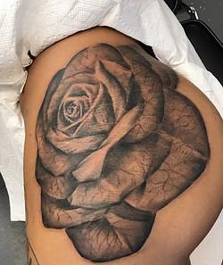Black & Grey Rose (Large)
