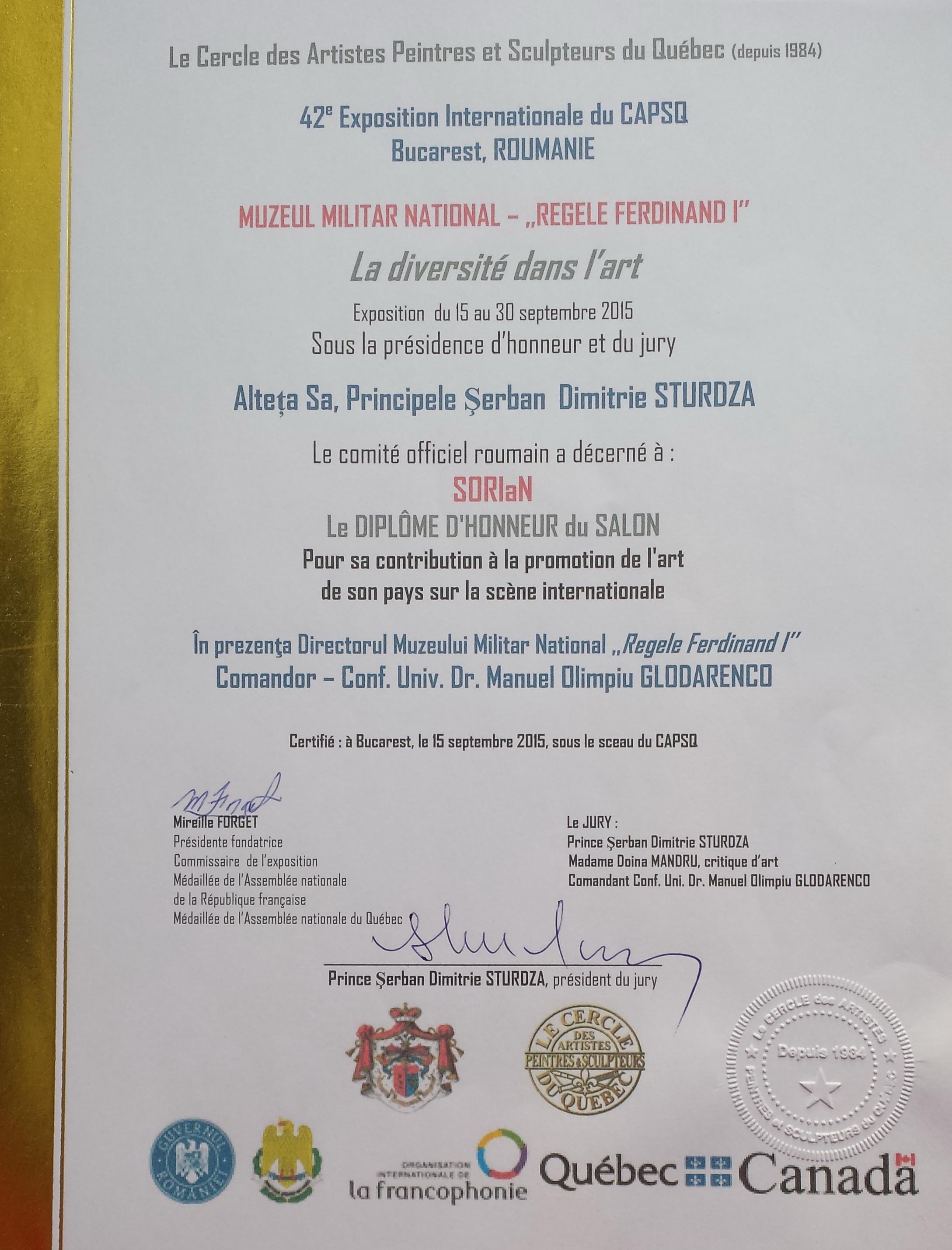 CAPSQ - Diplome d'Honneur - Septembre 2015.jpg