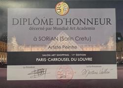 Honorary diploma - Carrousel du Louvre 2015.jpg