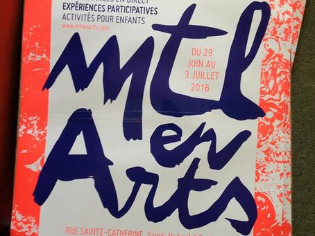 MTL en Arts, Montréal, 2016