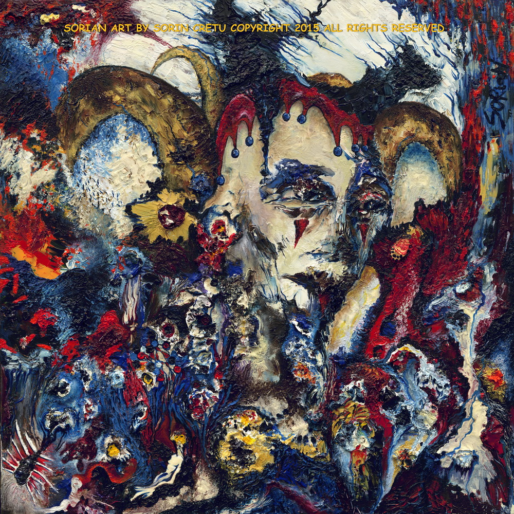 The Psychedelic Clown by SORiaN (Sorin Cretu) Size 24x24inch - 2015 - very small.jpg