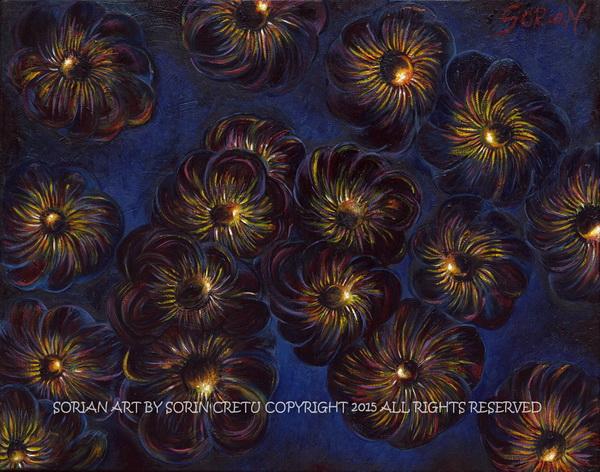 Outer space flowers by Sorian (Sorin Cretu) 16X20inch.jpg